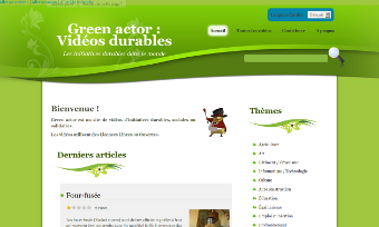 Green Actor, Site multilingue de vidéos d'initiatives durables, sociales ou solidaires.