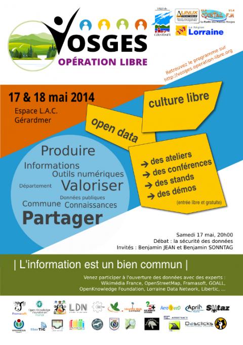 Vosges Opération Libre - Affiche