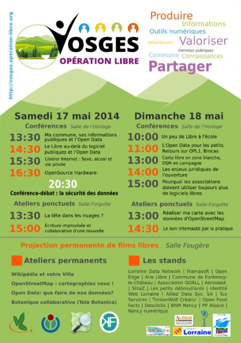 Vosges Opération Libre - Programme